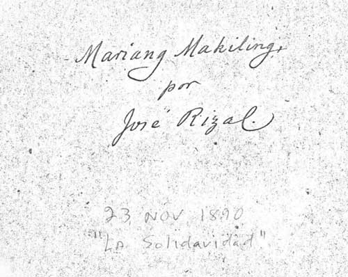 maria makiling by dr jose rizal Genealogy for maria alonso mercado rizal (rizal) (1859 - 1945) family tree on geni, with over 175 million profiles of ancestors and living relatives.
